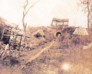 1925年云南大理地震遗迹 -地震历史文物图片